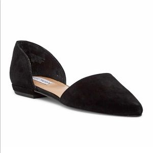 Black Sued Flats by Steve Madden size 9